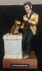 Elvis And Hound Dog Mccormick Decanter Music Box