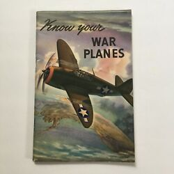 Vintage Wwii Coca Cola 1943 Know Your War Planes Advertising Booklet Aircraft