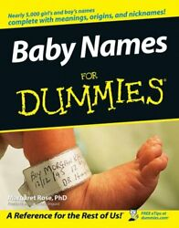 Baby Names For Dummies By Margaret Rose Phd