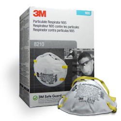 Case Of 8 Boxes Of 3m 8210 N95 Particulate Respirator 20 Masks Per Box