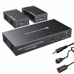 Hdmi Extender Splitter With Ir 1x2 1080p Over Ethernet Cable 1x2 Ir 1080p 164ft