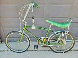 Schwinn Fastback 5 Speed Sting Ray Bicycle Green 1968 Seat Tires Frame - Read
