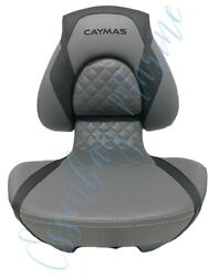 Attwood Centric X Tour Folding Boat Seat For Caymas Boats Black/grey