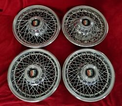 1978 Buick Wire Wheel Covers 15 Spoke Hubcaps 1979 1980 1981 1982 1983 1984 85