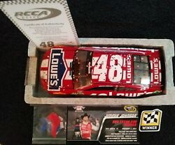 Jimmie Johnson 2014 Lowes Red Texas Raced Win Elite Extremely Rare Very Low 005