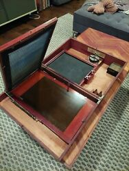 Antique Portable Silkscreen Printing Press From Early 1900and039s As Found In Mint...