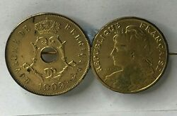 Antique French And Belgian Gilt Coin Brooch Antique Costume Jewellery