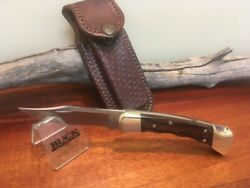 Buck 110 Knife - Vintage 1995 Finger Grooved With Am Sheath Clean
