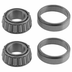 Front Inner And Outer Wheel Bearing W/ Seal Pair Lh And Rh Sides For Ford F150 2wd