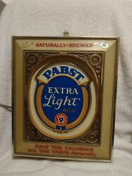 Vintage Pabst Blue Ribbon Extra Light Beer Sign Electric