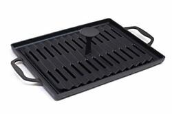 Grillville Usa Cast Iron Grill Pan And Press Indoor/outdoor Grill Pan And Wei...