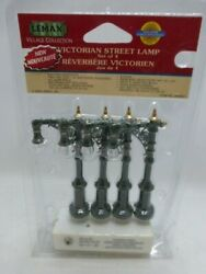 Lemax Village Collection Victorian Globe Street Lamp 4-pack Battery New