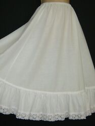 Laura Ashley Vintage 80s Carno/wales White Cotton Petticoat/underskirt One Size
