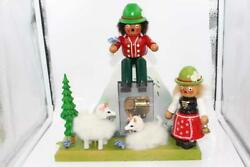 Signed Germany Steinbach Hand-made Wooden Smoker Sound Of Music Box Hilltops