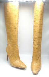 Vince Camuto Fendels Women Shoes Knee High Boot Cashew Croco Leather Sz 11 M
