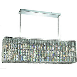 Asfour Crystal Large Dining Room Kitchen Island Chandelier Fixture 8 Light 44