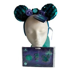 Minnie Mouse Main Attraction Haunted Mansion Ears/pins - Limited Edition. Nwt