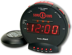 Extra Loud Alarm Clock with Bed Shaker Deaf Hearing Impaired Vibrating Alarm