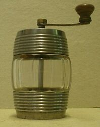 Antique Crystal And Metal Keg Shaped Pepper Mill Cab