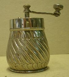 Antique Silver Plated Pepper Mill Cab