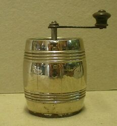 Antique Silver / Alpacca Keg Shaped Pepper Mill Cab