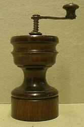 Antique Treen Fruitwood Pepper Mill Cab