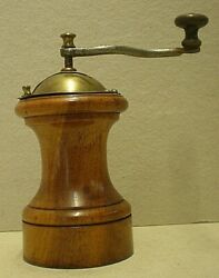 Antique Treen And Brass Peugeot Pepper Mill Cab