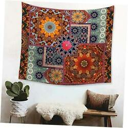 Bohemian Tapestry Indian Psychedelic 51 x 59 inches Mandala Vintage Lotus