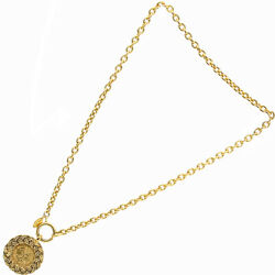 Necklace Brand Vintage Coco Mark Medal Chain Metal Gold Gp Coin