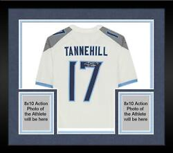 Framed Ryan Tannehill Tennessee Titans Autographed White Nike Game Jersey