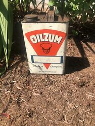 Vintage Oilzum 1 Gallon Choice Of Champions Can Great Display