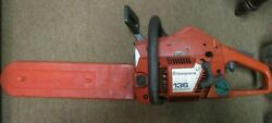 Husqvarna 136 Low Emission Gas-powered Chainsaw Preowned