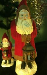 Bethany Lowe Large Red Belsnickle Santa With Lantern