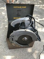 Porter Cable Speedmatic No 75 Circular Saw 1950's Metal Case And Extra Tool Lot S1