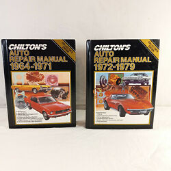 Lot Of 2 Chilton's Auto Repair Manuals 1964-1971 1972-1979 Collector's Editions