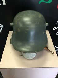 Ww1 Wwi German Camo Steel Helmet Rare Model And039et64and039 M16