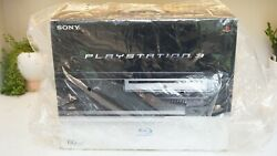 Sony Playstation 3 Ps3 60gb Console Backwards Cecha01 Complete Open Box Fw 1.10