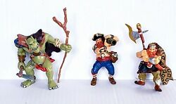 Medieval Papo Warrior Lot-3 Ogre, Knight, Fighter Pirate W/weapons 2002, 04, 05
