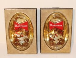 Budweiser Beer Bow Tie Signs - Lot Of 2