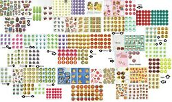 Huge Collection Lot 61 Full And 24 Partial Sheets Vintage Scratch And Sniff Stickers