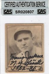 1940 Play Ball 158 Travis Stonewall Jackson Autographed Card Cas Authentic