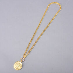 31 Rue Cambon Coin Chain Necklace Pendant Vintage Gold Accessory Jewelry
