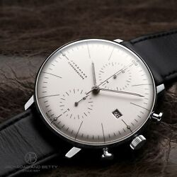 Junghans Max Bill Chronoscope Menand039s Automatic Chronograph Watch Leather
