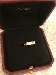 Love Ring 8 Diamonds 49 Us4.75 18k Pink Gold Width 4mm Used Authentic