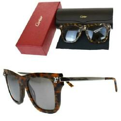 Panthre Sunglasses Brown Plastic Metal Case Storage Box With
