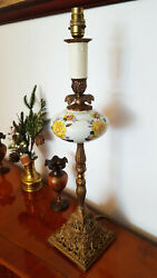Tall Antique / Vintage Table Lamp With Ornate Details - Country Style
