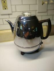 Vintage General Electric Percolator 33p30 Pot Belly Chrome Coffee 9 Cups Works