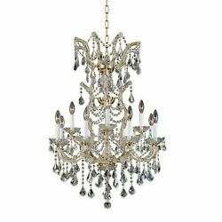 Asfour Crystal Living Dining Room Kitchen Island Chandelier Fixture 12 Light 38