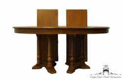 Tell City Furniture Solid Hard Rock Maple Colonial Style 101 Double Pedestal...