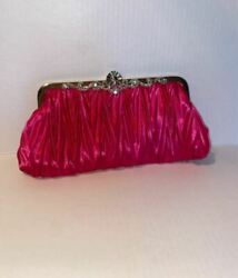 King Luck Pink Satin Evening Bag with Embellishments $8.99